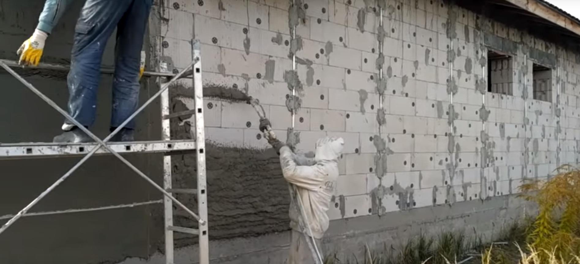 цементная машинная штукатурка
